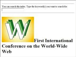 Web page for the first WWW conference in 1994